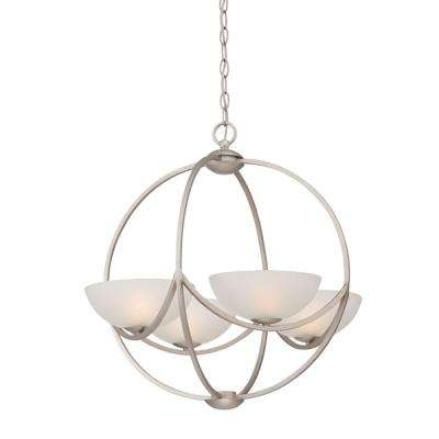 Carlucci 4-Light Linear Silver Chandelier