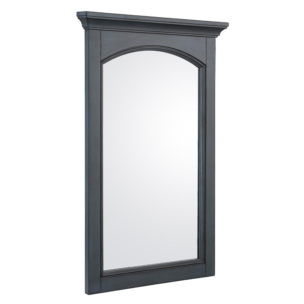 21 in. W x 30 in. H Framed Rectangular  Bathroom Vanity Mirror in Harbor Blue
