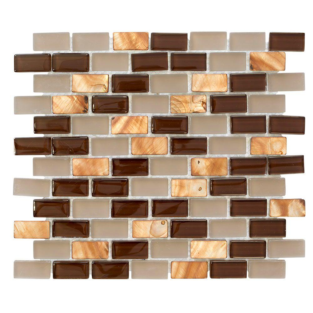 Jeffrey Court Bronze Shell Brick 10.5 In. X 12.5 In. X 8