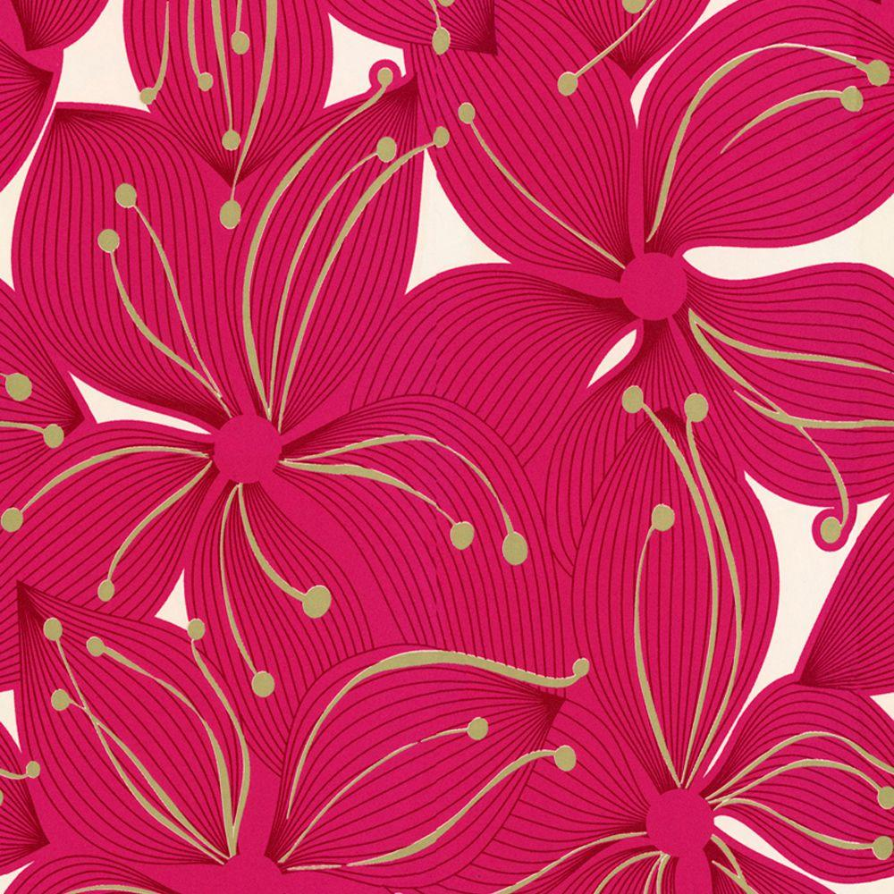The Wallpaper Company 8 in. x 10 in. Jade Floral Wallpaper Sample