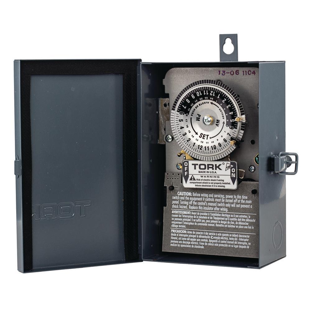 208-277-Volt 24-Hour Mechanical Time Switch in NEMA 3R Enclosure