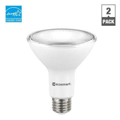 75W Equivalent Daylight PAR30 Dimmable LED Flood Light Bulb (2-Pack)