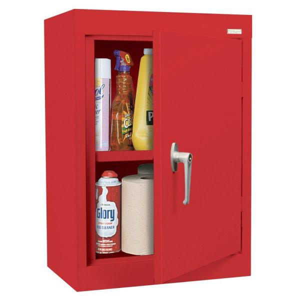 Sandusky 26 In H X 18 In W X 12 In D Wall Cabinet In Red Wa11181226 01 The Home Depot