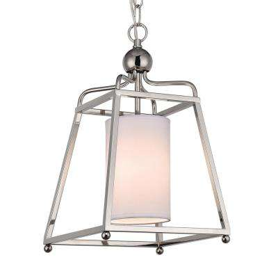 Wagner 1-Light Polished Nickel Pendant