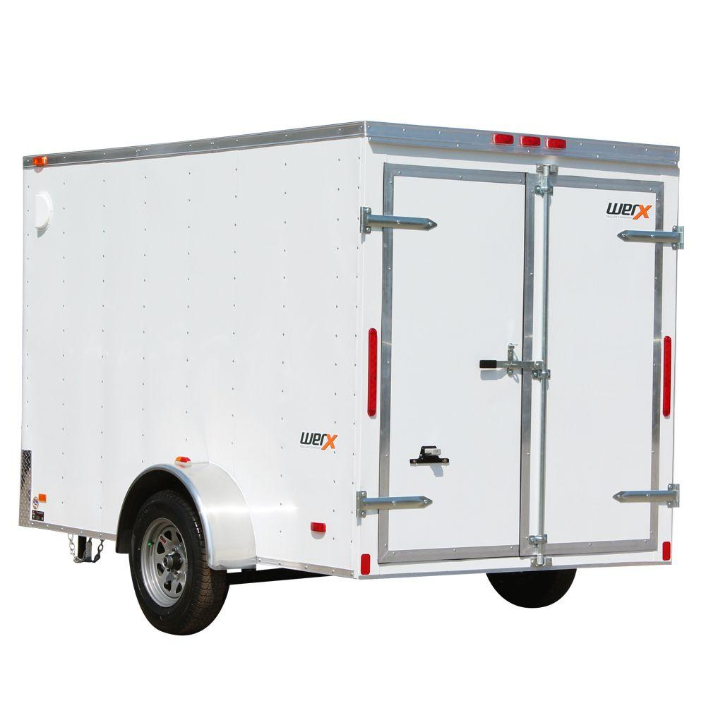 Werx 2005 Lb Enclosed Cargo Trailer Wx610 The Home Depot