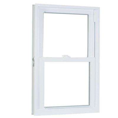 31.75 in. x 57.25 in. 70 Series Pro Double Hung White Vinyl Window with Buck Frame