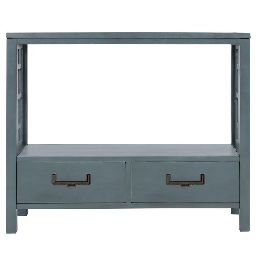 Harper & Bright Designs 30 in. Navy with 2-Bottom Drawers Console Table, Blue was $254.99 now $198.75 (22.0% off)