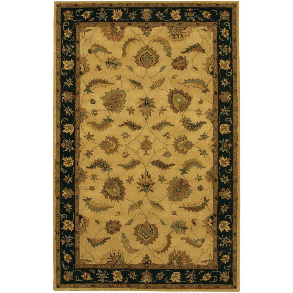 Chandra Avani Black Brown Gold Green 5 Ft X 8 Ft Indoor Area Rug