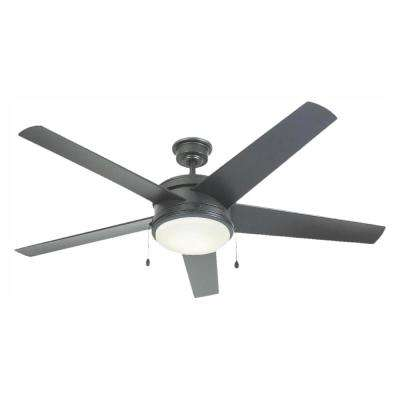 Portwood 60 in. LED Outdoor Natural Iron Ceiling Fan