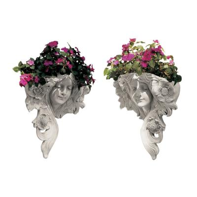 15 in. H Le Printemps and Le Etoile French Greenmen Wall Sculptures (Set of 2)