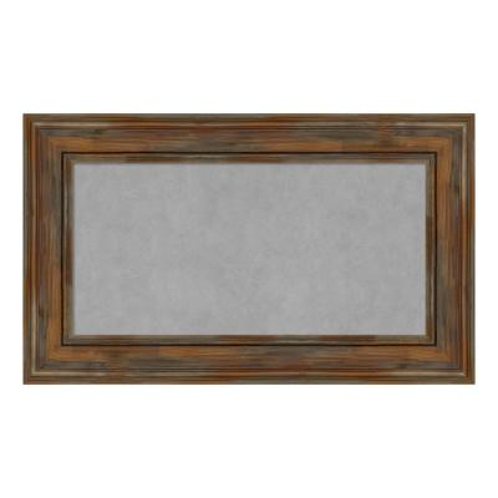 Alexandria Rustic Brown Framed Magnetic Memo Board