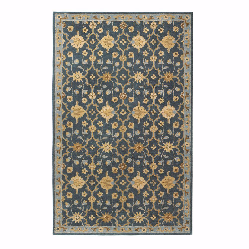 Home Decorators Collection Exeter Blue 9 ft. x 13 ft. Area Rug