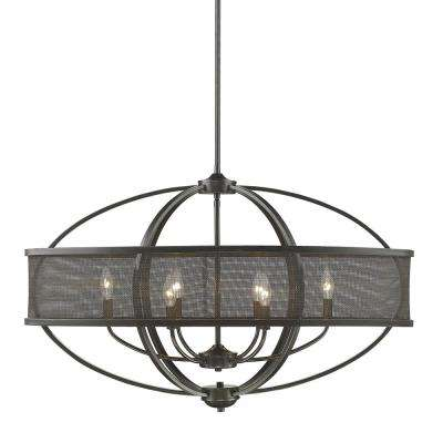 Colson EB 6-Light Etruscan Bronze Pendant with Shade