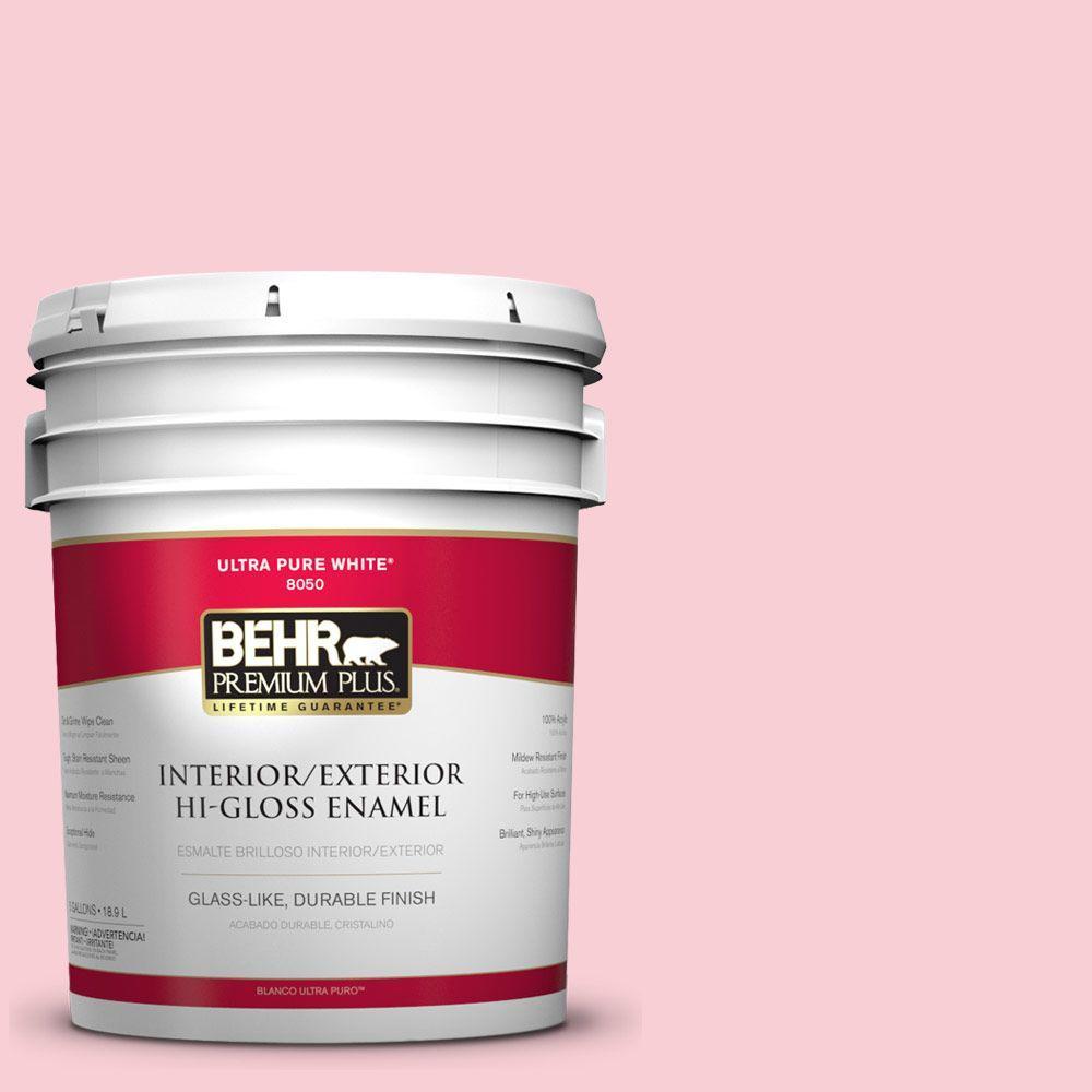 BEHR Premium Plus 5-gal. #130A-2 Fading Rose Hi-Gloss Enamel Interior/Exterior Paint