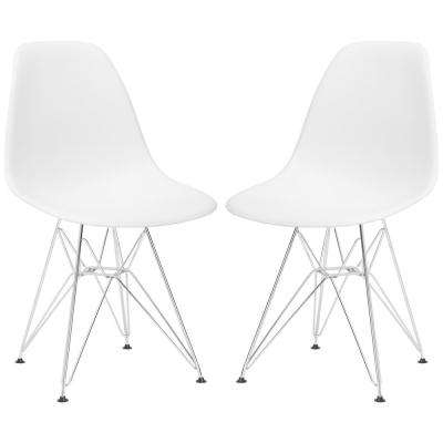 Padget White Side Chair (Set of 2)
