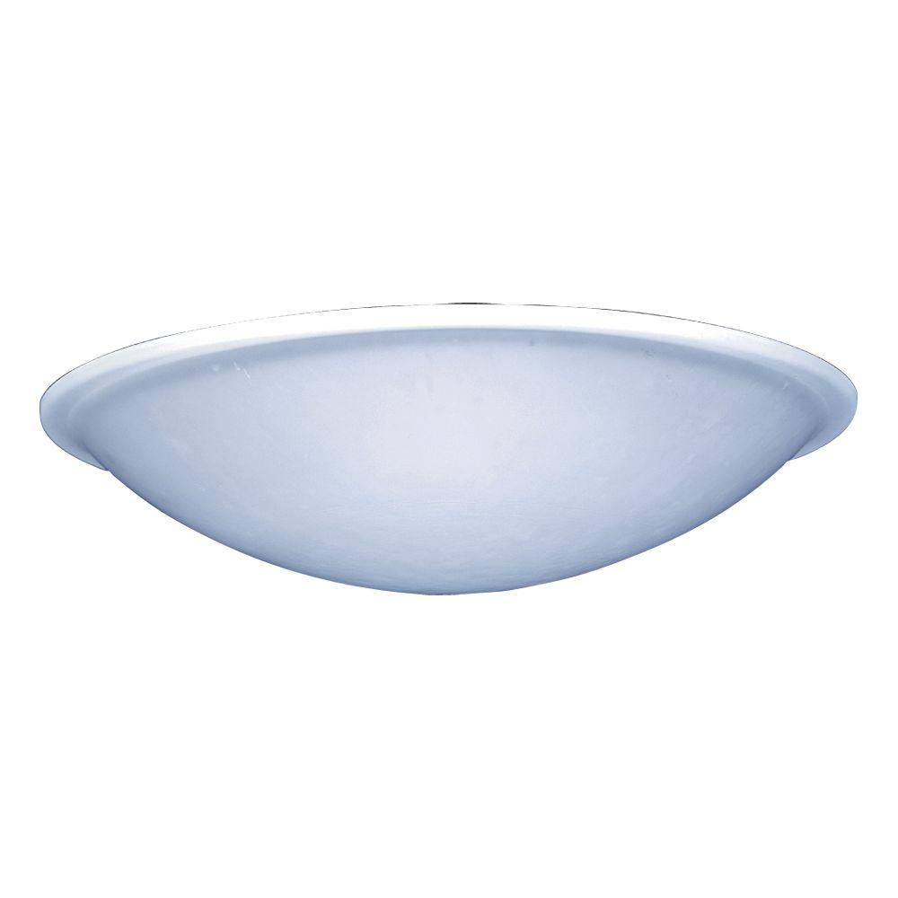 1-Light Ceiling Black Flush Mount with Frost Glass