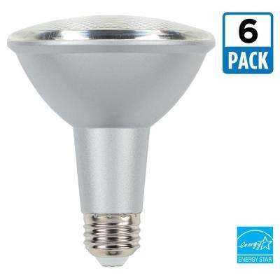 75W Equivalent Cool Bright PAR30 Dimmable LED Flood Light Bulb (6-Pack)