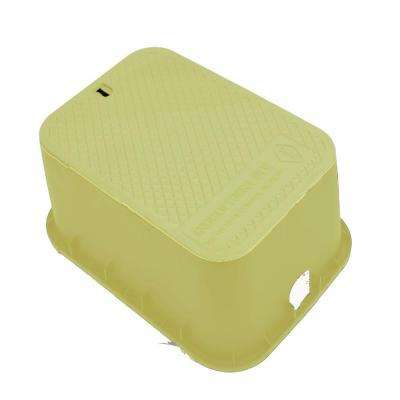 12 in. x 17 in. x 12 in. Deep Rectangular Valve Box in Tan Body Tan Lid