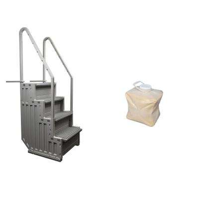 Ladder Heavy-Duty Step Entry Plus Step Sand Weight for Above Ground Pool