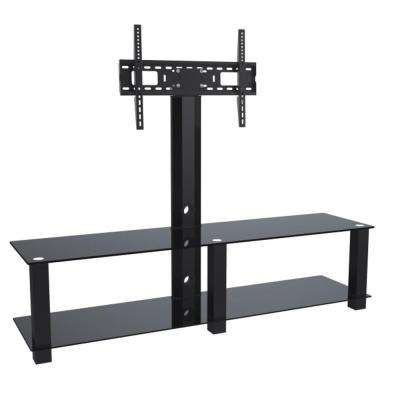2-Shelf Media Stand with 32 in. - 70 in. TV Mount