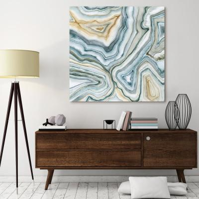 """""""Agate Abstract II"""" by EAD Art Coop Frameless Free-Floating Tempered Art Glass Wall Art"""