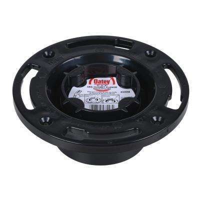 Oatey ABS Closed Toilet Flange with Pre-Installed Testing Cap