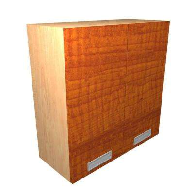 Genoa Ready to Assemble 36 x 30 x 12 in. Wall Cabinet with 2 Soft Close Doors in Cognac