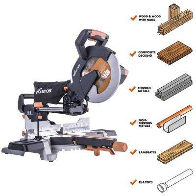 15 Amp 10 in. Multi-Material Sliding Miter Saw with 50° Miter and All-in-One Blade