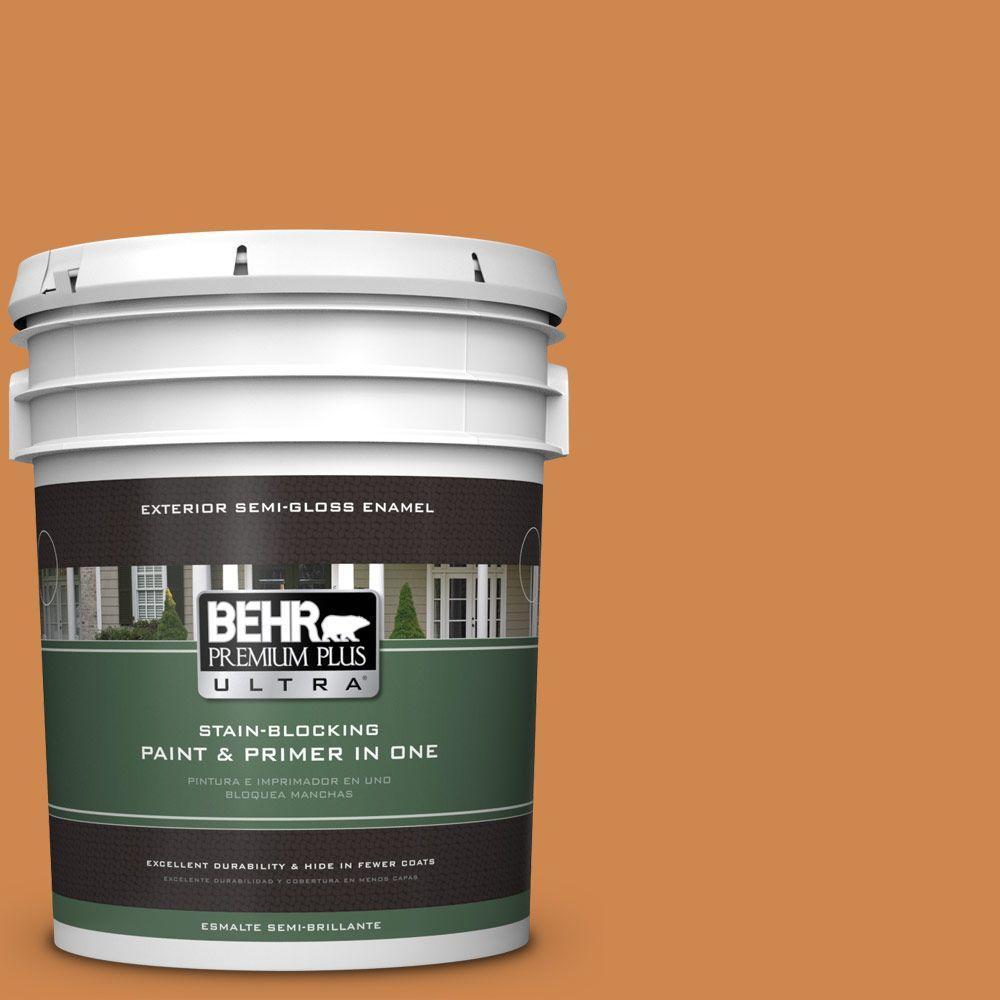 BEHR Premium Plus Ultra 5-gal. #PPU3-3 Flaming Torch Semi-Gloss Enamel Exterior Paint