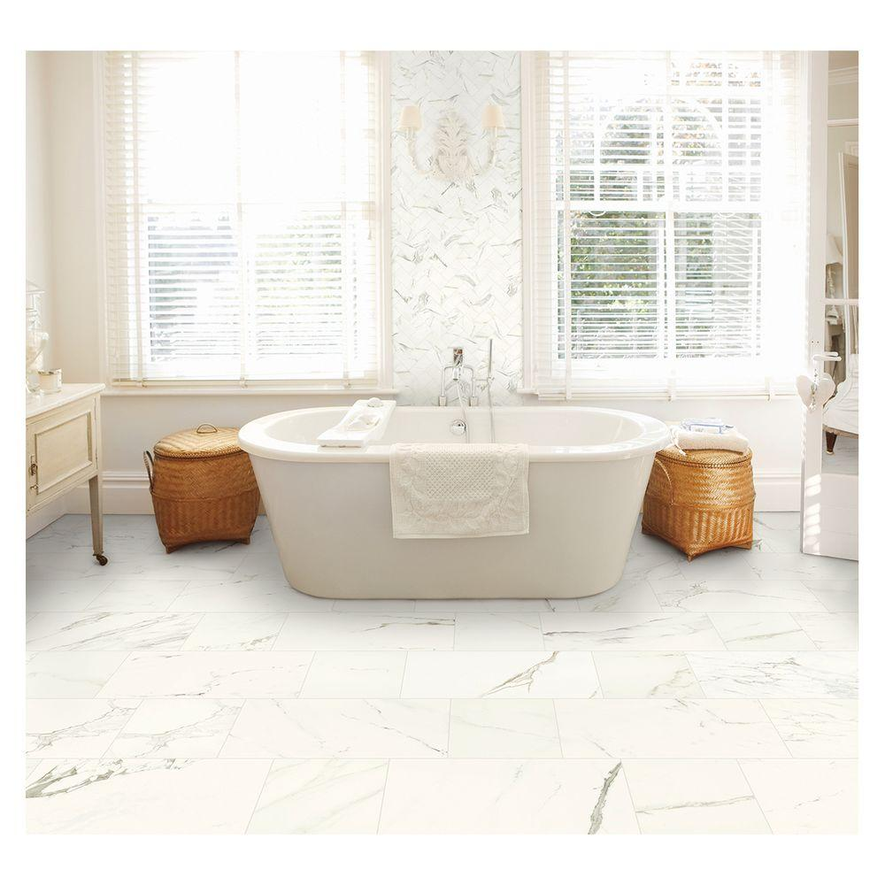 Marazzi Developed By Nature Calacatta 12 In X Glazed Porcelain Floor And Wall Tile 14 55 Sq Ft Case