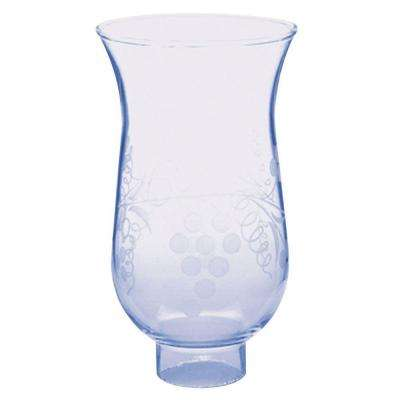 6 in. Handblown Clear Stenciled Grape Design Shade with 1-5/8 in. Fitter and 3-3/4 in. Width