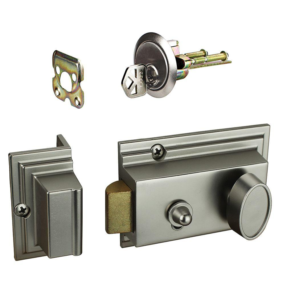 Schlage Century Satin Nickel Connect Smart Lock With Alarm