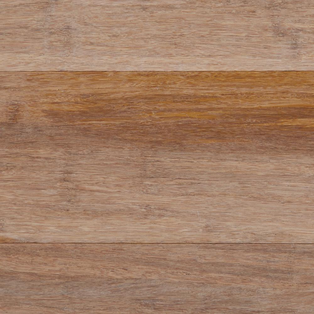 Wire Brushed Strand Woven Sand (Brown) 3/8 in. T x 5-1/8 in. W x 72-7/8 in. L Engineered Click Bamboo Flooring