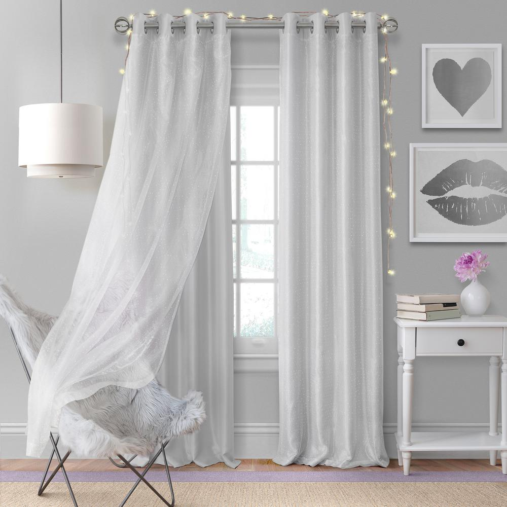 Beautiful Aurora Kids Room Darkening Layered Sheer Window Curtain