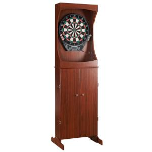 Hathaway Outlaw Free Standing Dart Board and Cabinet Set - Cherry by Hathaway
