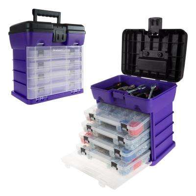 5-Compartment Small Parts Organizer, Purple