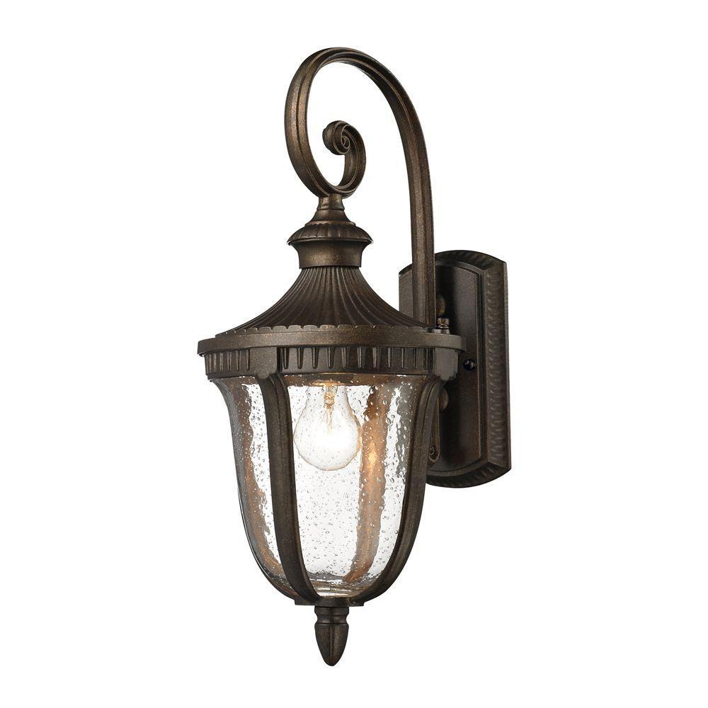 Titan Lighting Worthington 1 Light Hazelnut Bronze Outdoor