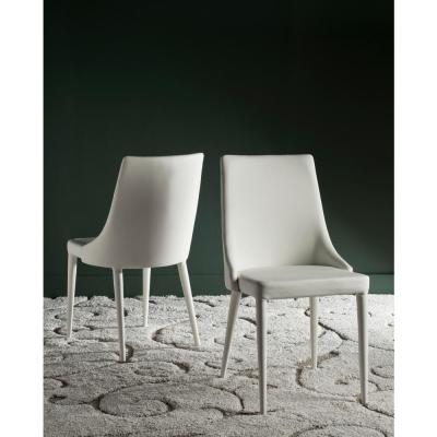 Summerset White 19 in. H Leather Side Chair (Set of 2)