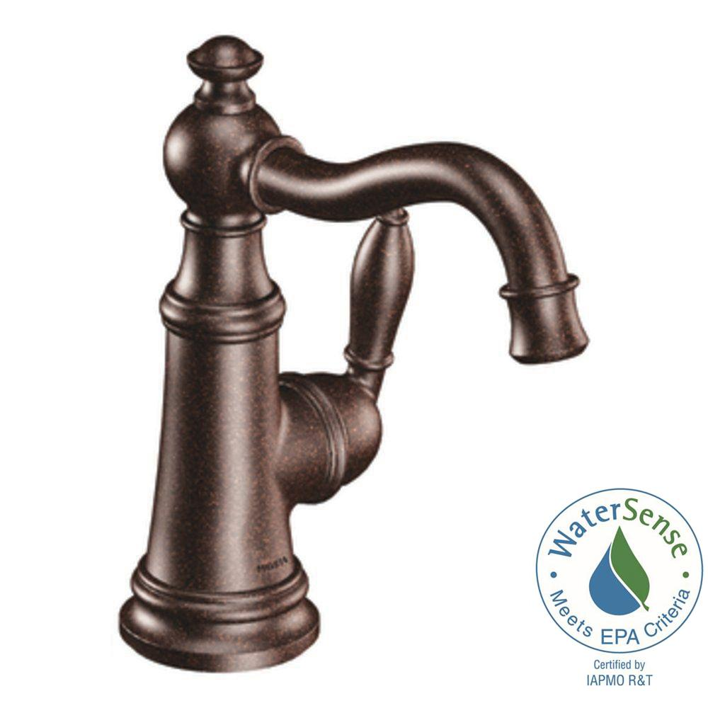 Etonnant MOEN Weymouth Single Hole 1 Handle High Arc Bathroom Faucet In Oil Rubbed  Bronze