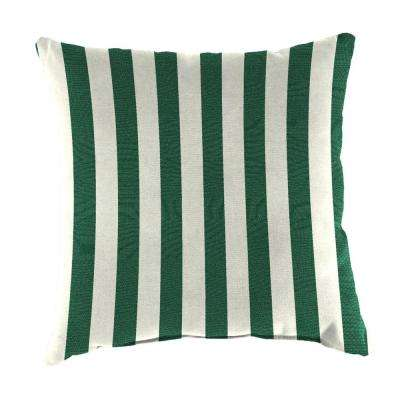Sunbrella Mason Forest Green Square Outdoor Throw Pillow