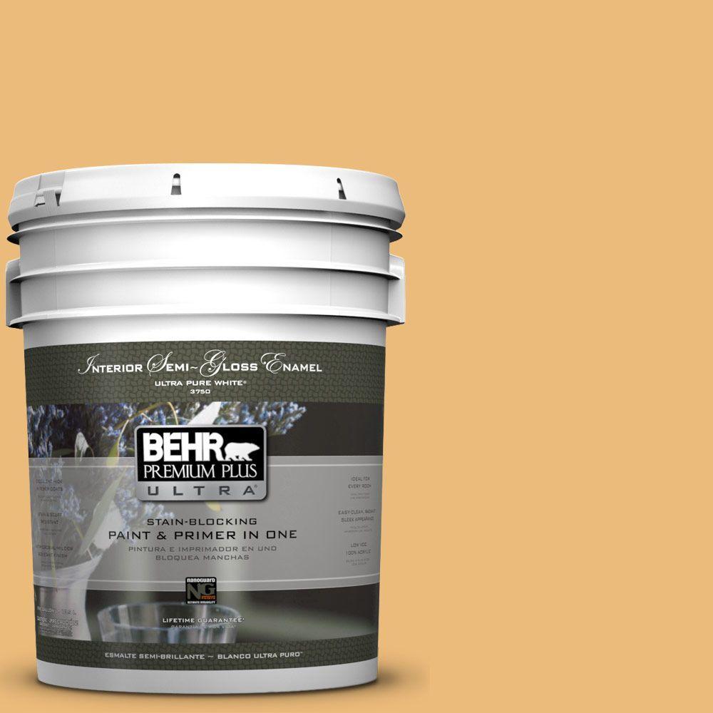 BEHR Premium Plus Ultra 5-gal. #BXC-61 Early Harvest Semi-Gloss Enamel Interior Paint