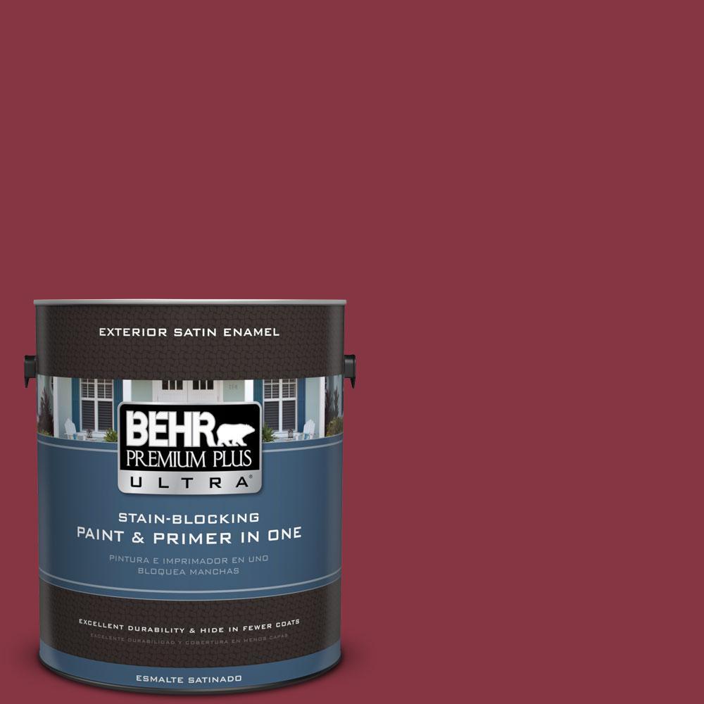 BEHR Premium Plus Ultra 1-gal. #S-H-120 Antique Ruby Satin Enamel Exterior Paint