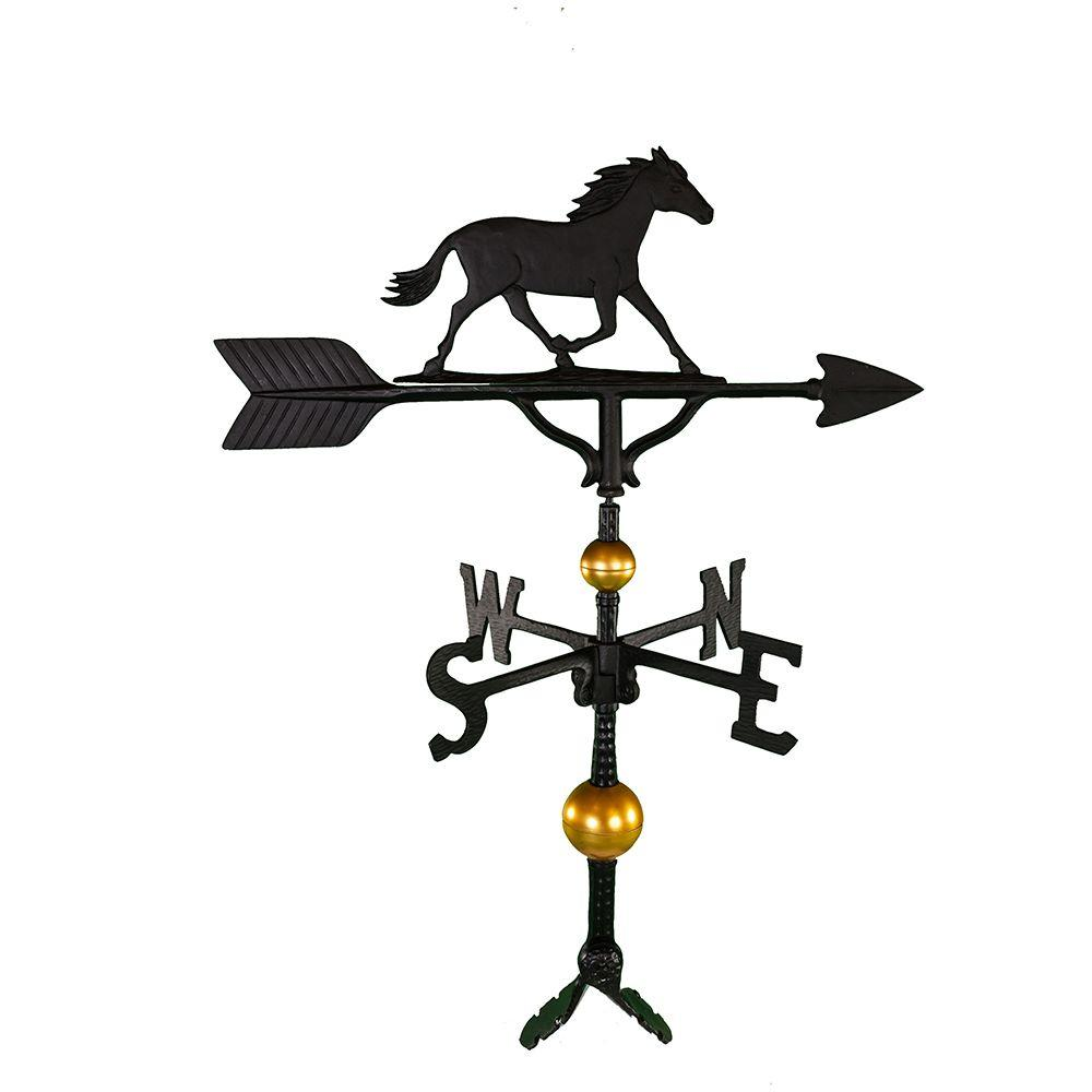 Montague Metal Products 32 in. Deluxe Black Horse Weathervane