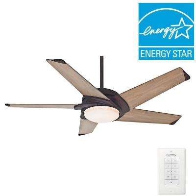 Stealth 54 in. Indoor Industrial Rust Ceiling Fan with Unviersal Wall Control