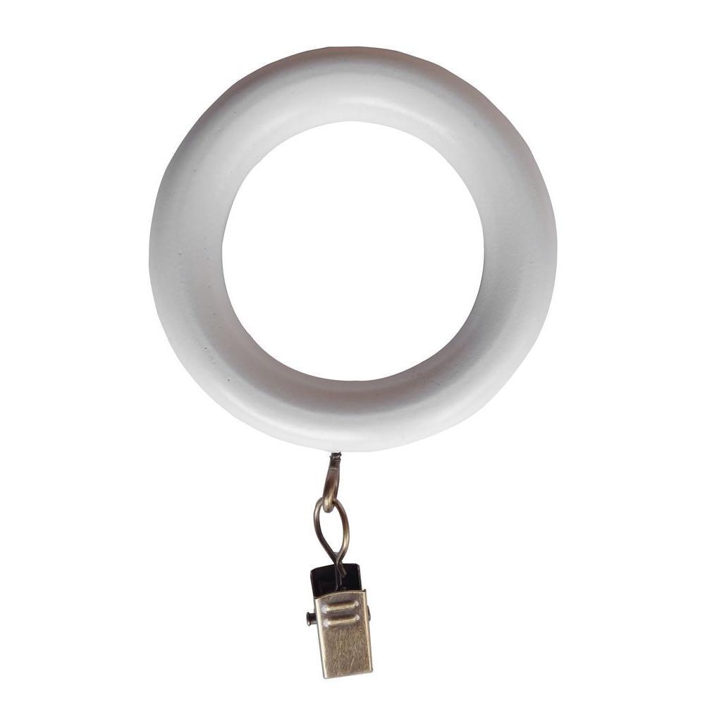 1-3/8 in. Wood Clip Rings in White
