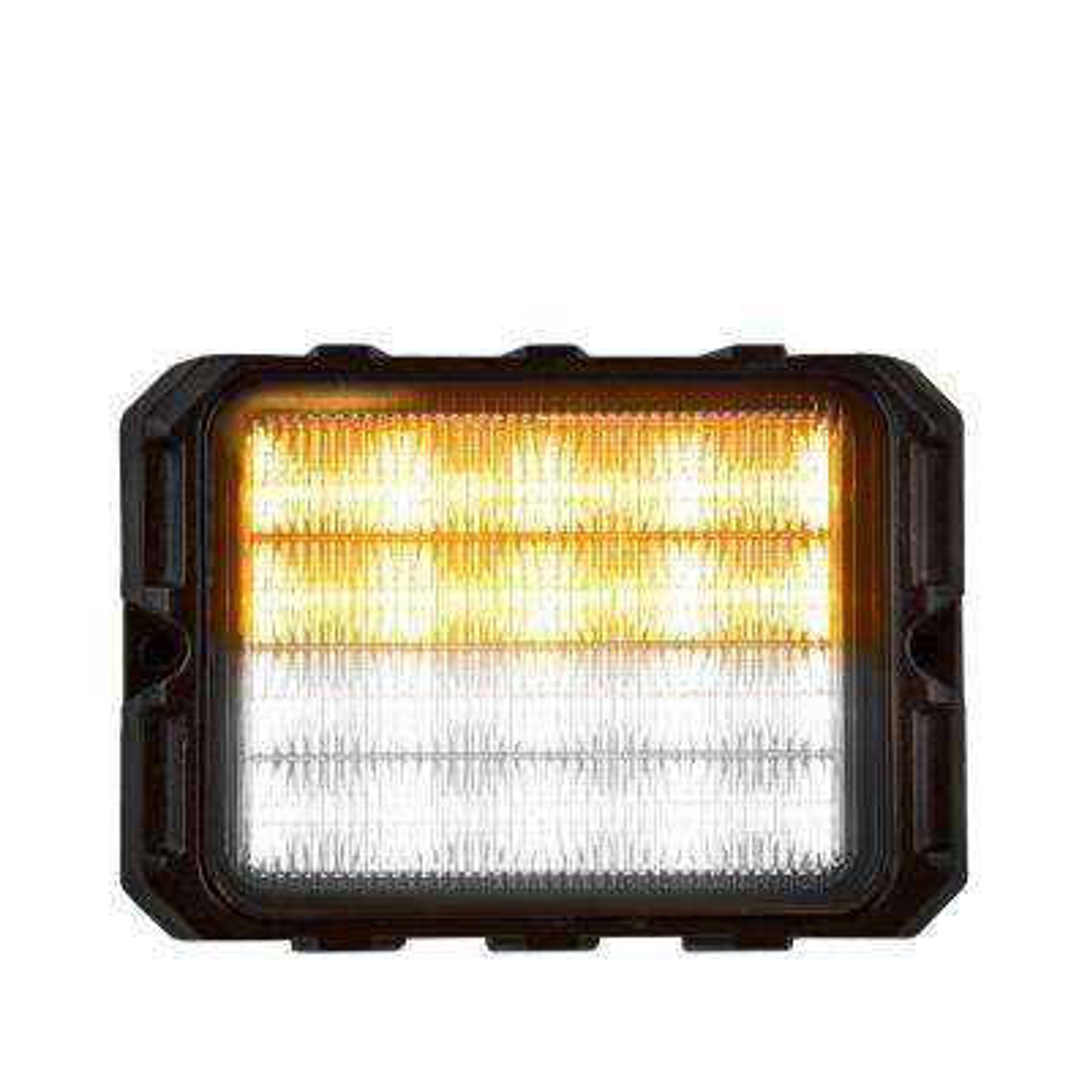 16 Amber/Clear LED 4.75 in. Strobe Light