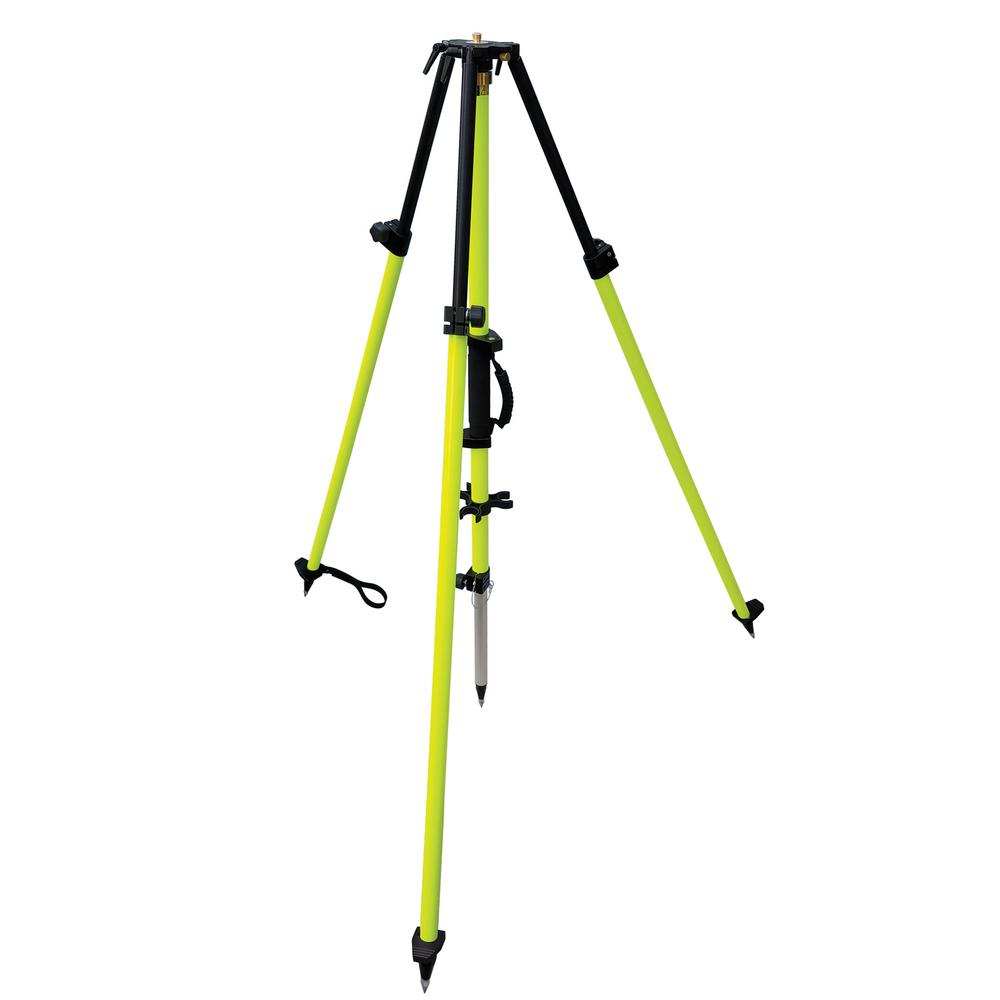 SitePro GPS Antenna and Machine Controlled Tripod Ideal for GPS and machine control applications. Heavy-duty aluminum with collapsible 2 meter center staff that rotates 360°. Lightweight, heavy-duty aluminum legs and staff are electrostatic powder coated in flo-lime paint.