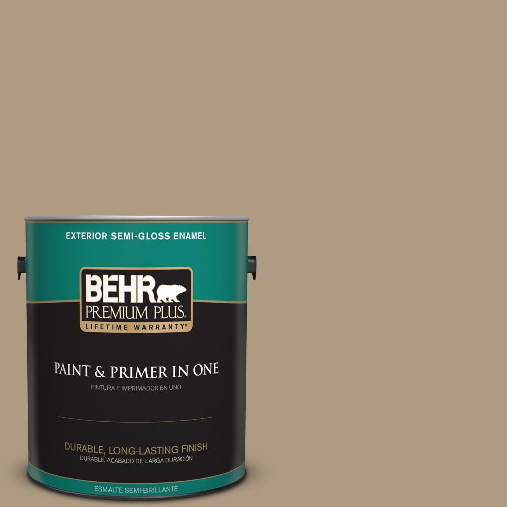 1 gal. #MQ2-24 Golden Olive Semi-Gloss Enamel Exterior Paint and Primer
