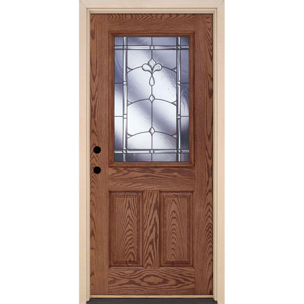 Feather River Doors 375 In X 81625 In Carmel Patina 12 Lite