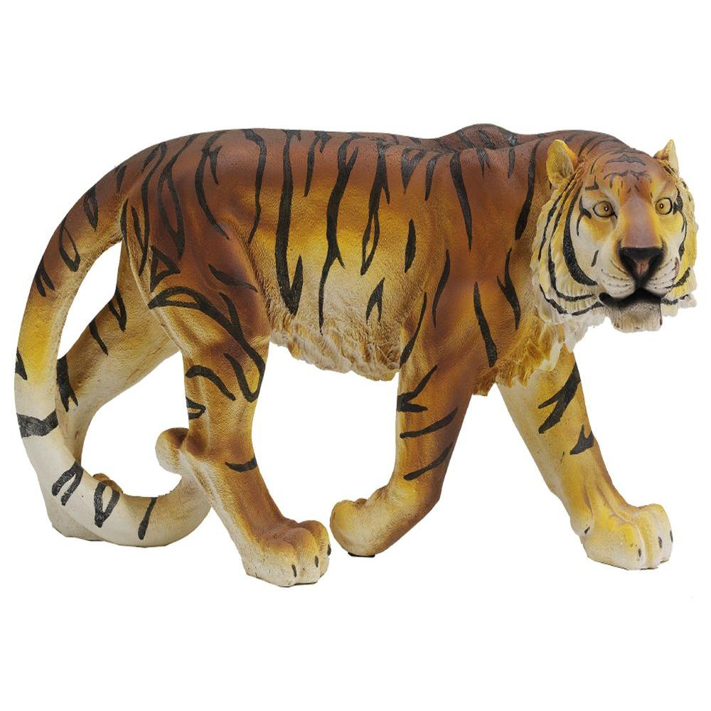 Design Toscano 13 in. Power and Grace Tiger Statue-DISCONTINUED